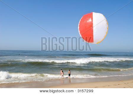 Beachball At Beach