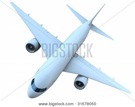 Jet Airplane Top View