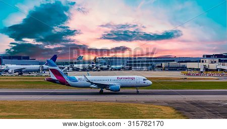 London, Uk - October 1, 2016: Heathrow Airport Is The Second Busiest Airport In The World By Interna