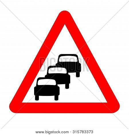 Queuing Traffic Sign Isolated