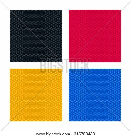 Colorful Backgrounds With Honeycomb Textures. Abstract Background Set.
