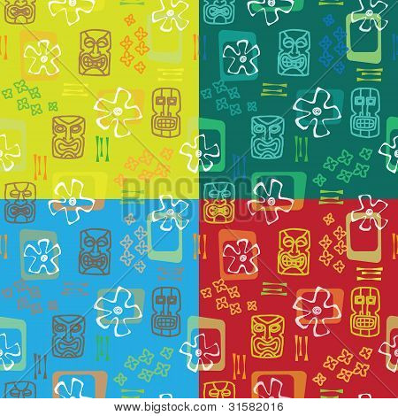 Tiki seamless pattern