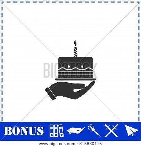 Pie Icon Flat. Simple Vector Symbol And Bonus Icon