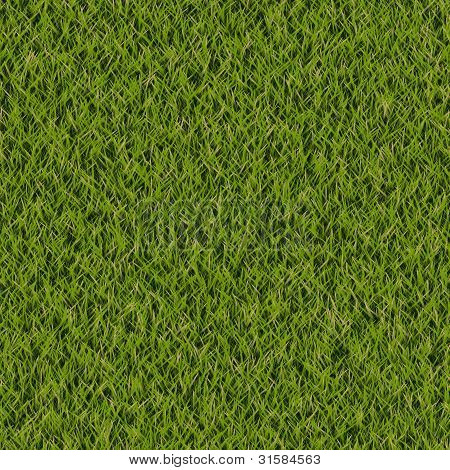 Green Grass Seamless Lawn Turf Tiling Pattern Background