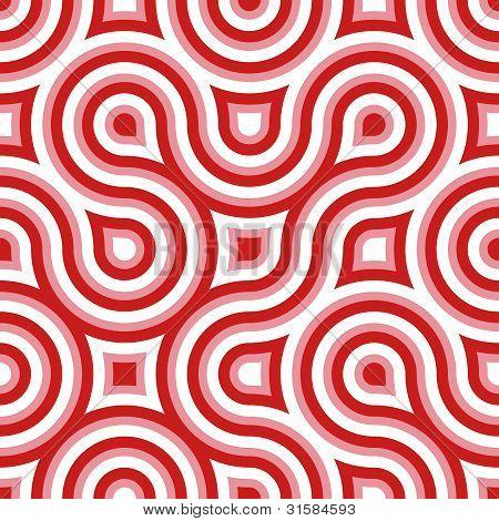Funky Wild Circle Seamless Pattern Pink White Red