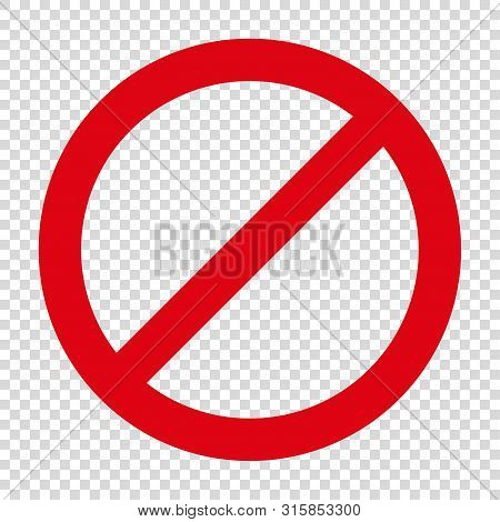 No Entry Restriction Sign Forbiding Parking Etc Vector
