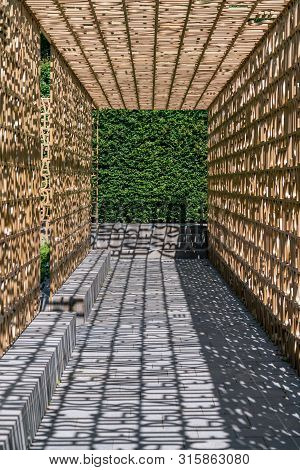 Berlin-marzahn, Germany - July 18, 2019: Wall With Words From The Bible In The Christian Garden At G