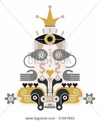 Money Pyramid - vector icon