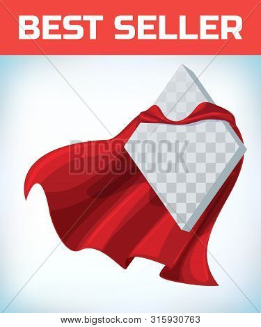 Red Cape. Super Hero Cape. Red Super Cloak. Character Hero Logo. Manager Leader. Leadership Concept.