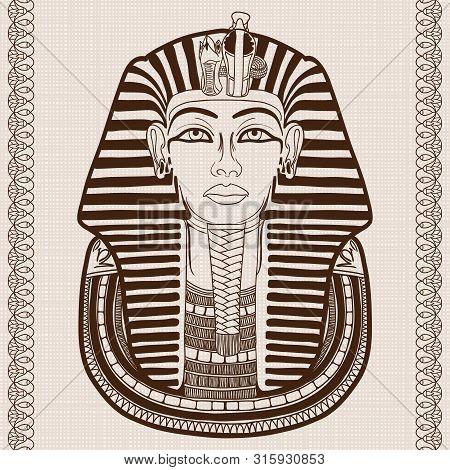 Ancient Egyptian Mask Of The Pharaoh Tutankhamun.