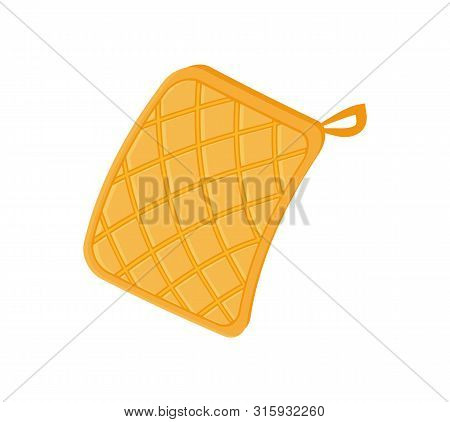 Potholder Cloth For Hot Plates And Bakery. Oven Mitt With Loop Cooking Fireproof Protective Glove. I