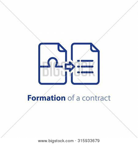 Formation Of A Contract Concept, Document Creation, Terms And Conditions Settlement Agreement, Vecto