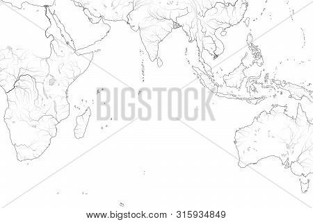 World Map Indian Vector Photo Free Trial Bigstock