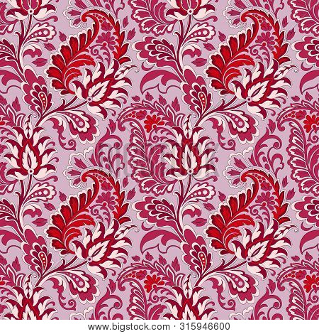 Paisley Vector Seamless Pattern. Floral Seamless Pattern. Modern Seamless Pattern For Interior Decor