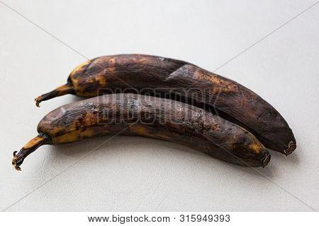 A Rotten Banana On A White Background, Pop Art.