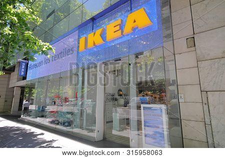 Madrid Spain - May 28, 2019: Ikea Store In Serrano Shopping Street Madrid Spain