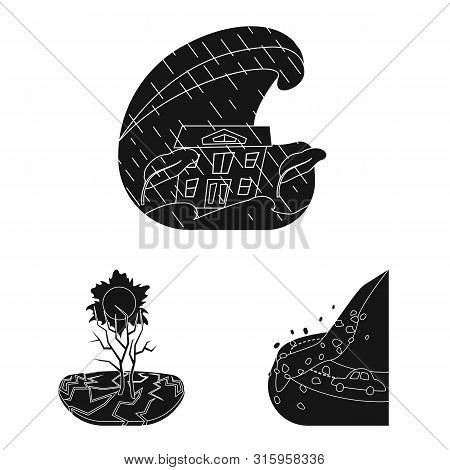 Isolated Object Of Calamity And Crash Symbol. Collection Of Calamity And Disaster Stock Vector Illus