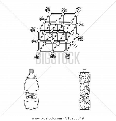 Vector Design Of Sodium And Mineral Sign. Set Of Sodium And Kitchen Stock Symbol For Web.