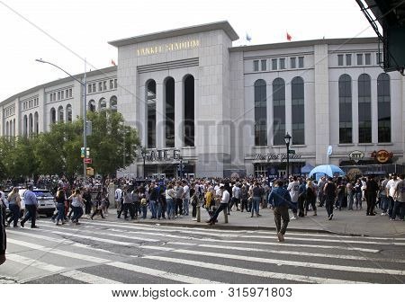 Bronx, New York/usa - June 17, 2019: Yankee Fans Head To The Stadium To Enjoy The Game.