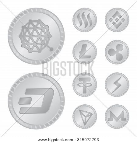 Isolated Object Of Cryptography And Finance Logo. Collection Of Cryptography And E-business Vector I