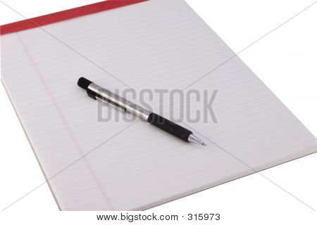 Legal Pad And Pencil