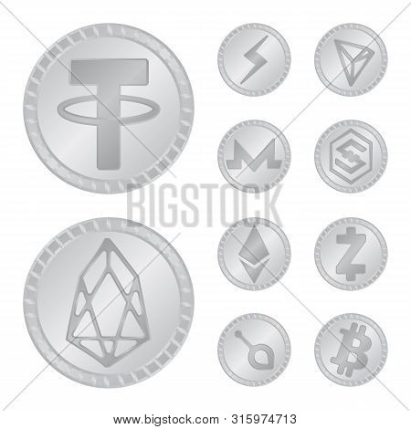 Vector Illustration Of Cryptography And Finance Icon. Collection Of Cryptography And E-business Stoc