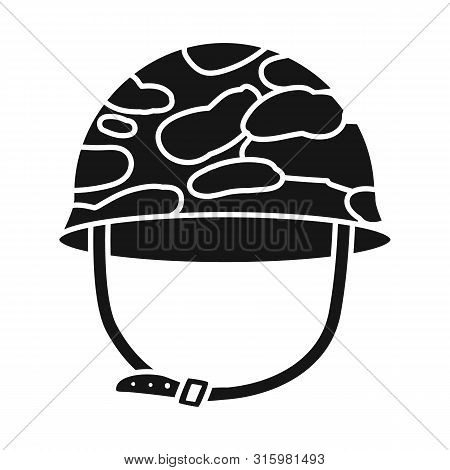 Isolated object of caps and military symbol. Collection of caps and khaki stock symbol for web. poster