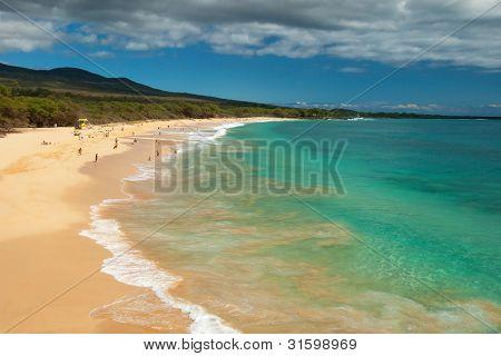 Big Beach On Maui Hawaii Island