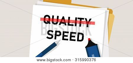 Speed And Quality Select Between Cost Efficiency In Project Management Plan