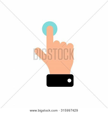 Vector Touch Screen Gesture Swipe Hand Finger Icon. Flat Eps Illustration Pictogram For Web Site Des