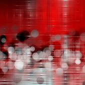 Wonderful design illustration with bubbles in grey and red poster