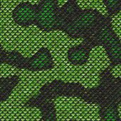 Seamless and easily tiled, snake skin design in green and black. Reptilian scales great for nature, Halloween, horror, or science fiction projects. poster