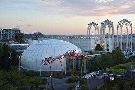 Seattle, Wa - Jul 12: View Of Pacific Science Center From The Space Needle In Seattle, Washington, O