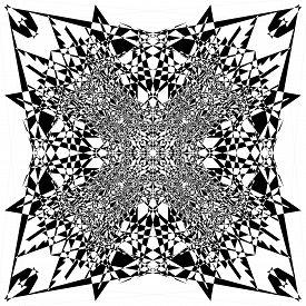 Square Plaid  Illusion Arabesque Satelite  Inspired Strukture Abstract Cut Art Deco Illustration On