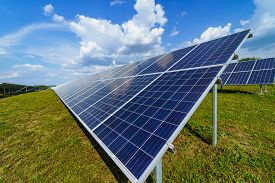 Solar Panels. Power Station. Blue Solar Panels. Alternative Source Of Electricity. Solar Farm. The S
