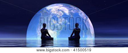 Meditation For Earth - 3D Render