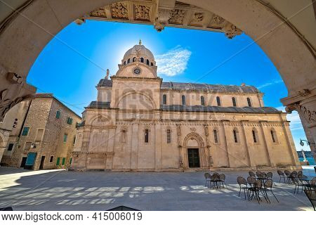 Sibenik Cathedral Of St James Square View, Unesco World Heritage Site, Dalmatia Region Of Croatia
