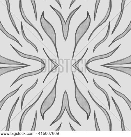 Seamless Zebra Texture. Watercolour Animal Fur. Grey Fashion Wild Wallpaper. Tiger Stripe Fabric. Ze