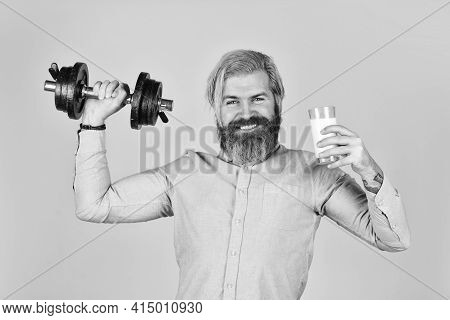 Source Of Calcium. Bearded Man Drink Milk. Exercise In Gym. Milk Good Nutrients. Amount Of Fat. Vita