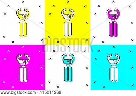 Set Clippers For Grooming Pets Icon Isolated On Color Background. Pet Nail Clippers. Vector