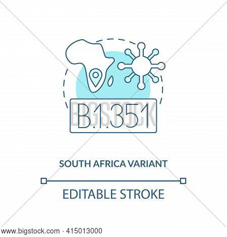 South Africa Variant Concept Icon. Virus Upgrading In Hot Parts Of Planet. Fighting New Type Of Covi