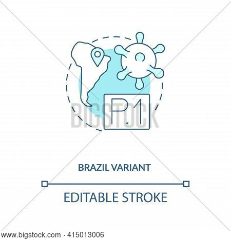 Brazil Variant Concept Icon. New Type Of Corona Virus. Illness Upgrading Due To Different Conditions
