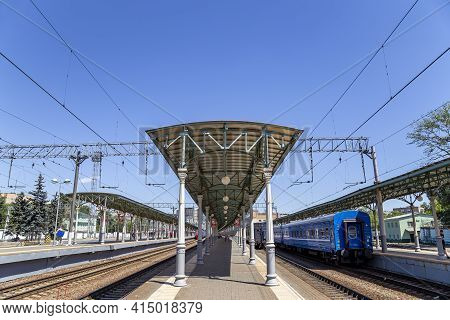 Moscow Passenger Platform (belorussky Railway Station) Is One Of The Nine Main Railway Stations In M