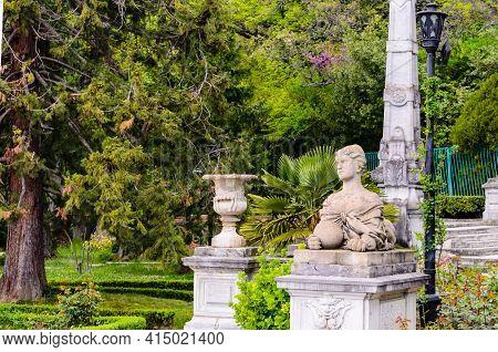 Yalta, Crimea, Russia- May 1, 2020: Massandra Palace - Museum Of Emperor Alexander Iii On The Southe