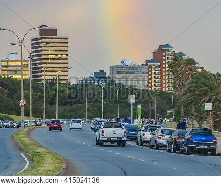 Rainbow At Punta Carretas Neighborhood, Montevideo