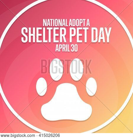 National Adopt A Shelter Pet Day. April 30. Holiday Concept. Template For Background, Banner, Card,