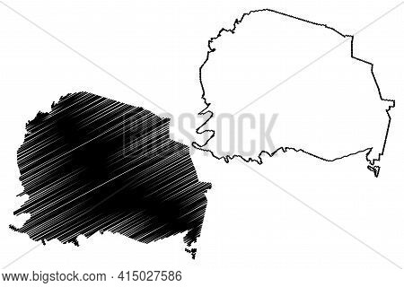 White County, State Of Tennessee (u.s. County, United States Of America, Usa, U.s., Us) Map Vector I