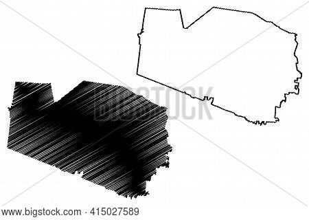 Williamson County, State Of Tennessee (u.s. County, United States Of America, Usa, U.s., Us) Map Vec