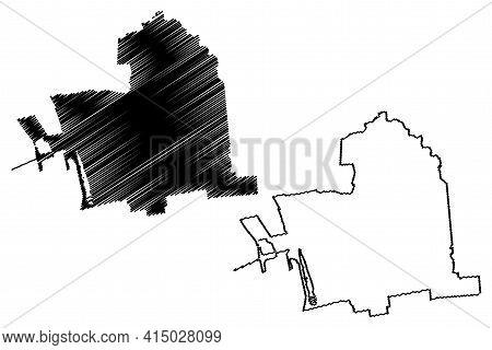 Berkeley City, California (united States Cities, United States Of America, Usa City) Map Vector Illu
