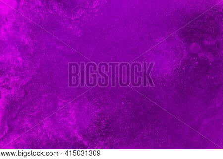 Foamy Texture Purple Colored Liquid. High Quality And Resolution Beautiful Photo Concept